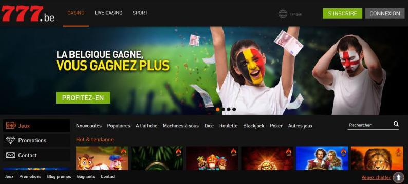 Casino777 home page